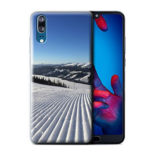 Stuff4® Phone Case/Cover/Skin/HUAGP-CC/Skiing/snowboarding Collection Huawei P20 Corduroy sporen