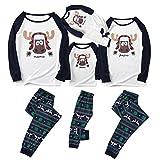 Sanahy Familien Pyjama Sätze, Weihnachtsfrauen Mann Jungen Mädchen Baby Pyjamas 2pcs langärmlige Tops + Pants Kleidung über Nacht