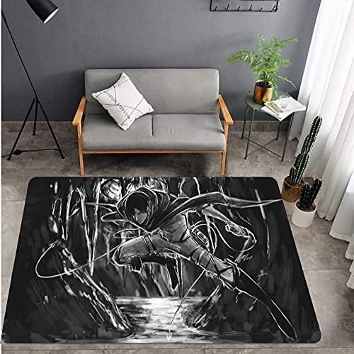 Anime Attack on Giant Carpet Rectangular Antideslizante Sala de Estar para niños Alfombra de Dormitorio 160X230cm-A_80X120cm