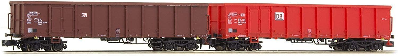 Hobbytrain (by Lemke) H23410 DBAG Gondola Set Red Brown (2) VI