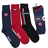 Pack of 3 Lambretta Target Designer Cotton Rich Socks Shoe Size 6-11