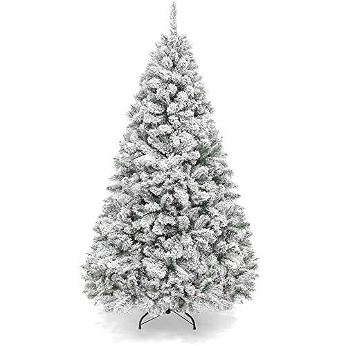 Best Choice Products 6ft Premium Snow Flocked Artificial Holiday Christmas Pine Tree for Home, Office, Party Decoration...