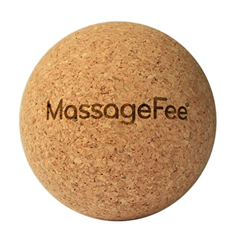 MassageFee Fußmassagegerät Faszienball Massageball aus Kork. Selbstmassage von Triggerpunkten & Faszien der Füße, Waden, Gesäß, Nacken, Schulter & Rücken.