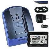Baterìa + Cargador (USB/Coche/Corriente) para VW-VBT190 / Panasonic HC-V210, V230, V250, V270. / VFX979. / W570, W580. - v. Lista - con Infochip 100% decodificado