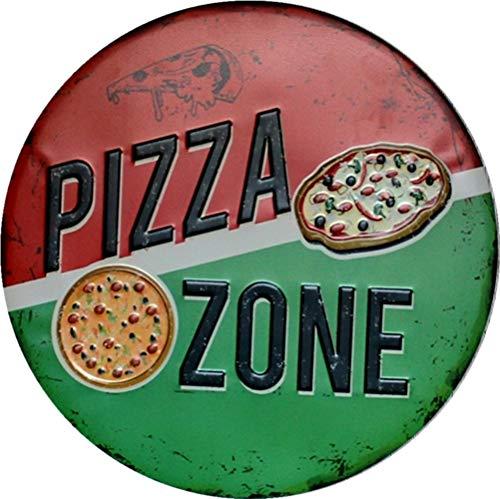 Placa Para Pizza  marca metal tin sign