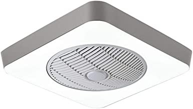 """21.65""""X21.65"""" Square Modern Minimalist Ceiling Fan with Light, Led 36w Three-Color Dimming, Ultra-Thin Electric Fan Ceilin..."""