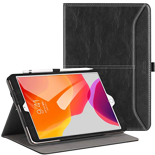 Ztotop for iPad 7th Generation Case iPad 10.2 Case 2019, Premium PU Leather Slim Folding Stand Cover with Auto Wake/Sleep, Multiple Viewing Angles Case for iPad 7th Gen 10.2 Inch, Black