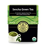 Organic Sencha Green Tea – 18 Bleach-Free Tea Bags – Energizing Tea with Caffeine, Natural Source of Antioxidants and L-theanine, Kosher, GMO-Free