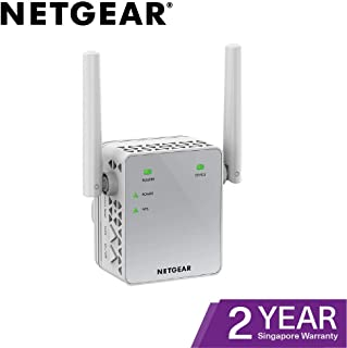 NETGEAR 11AC 750 Mbps (300 Mbps + 450 Mbps) Dual Band Gigabit Wi-Fi Range Extender with External Antennas (Wi-Fi Booster) ...