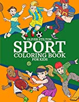 Sport Coloring Book for Kids: Connect the Dots and Color! Fantastic Activity Book and Amazing Gift for Boys, Girls, Preschoolers, ToddlersKids. Draw Your Own Background and Color it too!