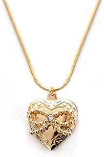 Love Heart Locket Necklace for Women, Girls and Kids, Locket Jewelry Gifts for Friends, Birthday Gifts