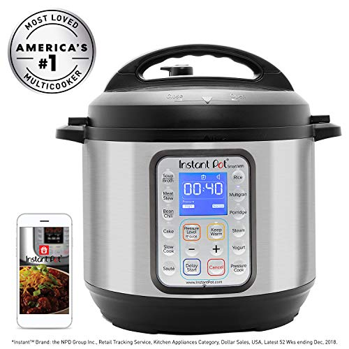 Instant Pot Smart Wifi 6 Quart Multi-use Electric Pressure, Slow, Rice Cooker,...