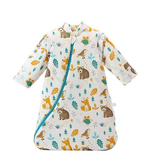 Mornyray Enfant Unisexe Bébé Sac de Couchage Hiver pour Bébé en Coton size M (Animal World)