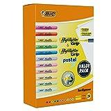 BIC Subrayador Grip & Highlighter Grip Pastel Pack de 24
