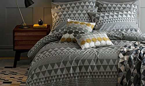 Niki Jones Isosceles Quilt Cover Slate King