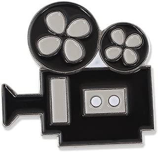Classic Movie Camera Black Nickel Plated Enamel Diestruck Lapel Pin