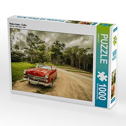CALVENDO Puzzle Retro Auto - Cuba 1000 Teile Lege-Größe 64 x 48 cm Foto-Puzzle Bild von Gerd Matschek