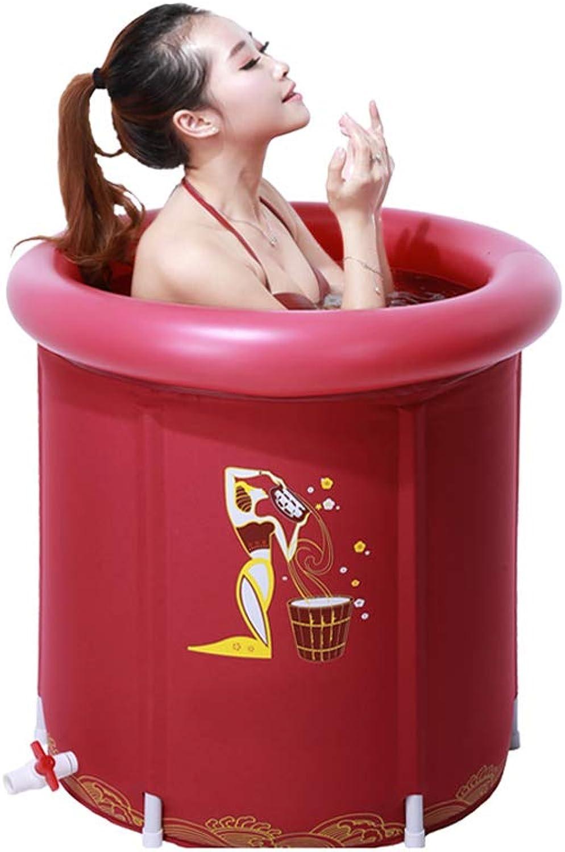 TangMengYun Folding Tub, Adult Thick Warm Bath Tub Inflatable With Lid Bathtub