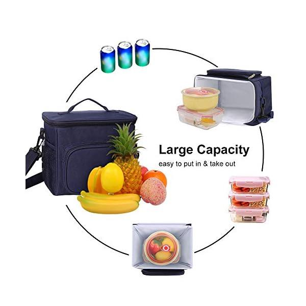 515scC9R2SL. SS600  - esonmus Bolsa Térmica Comida 10L, Termica Porta Alimentos con Correa Portatil Bolsa de Almuerzo para Adulto Niños Bolsa…