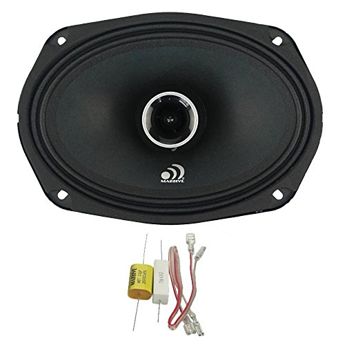 6x9 Inch Massive Audio FX69 80 Watts RMS FX Series Coaxial Speakers 20mm Aluminum Dome Ferro Fluid Sold AS Pair 6dB Linksworth Riley Crossover 4 Ohm 320 Watts Max