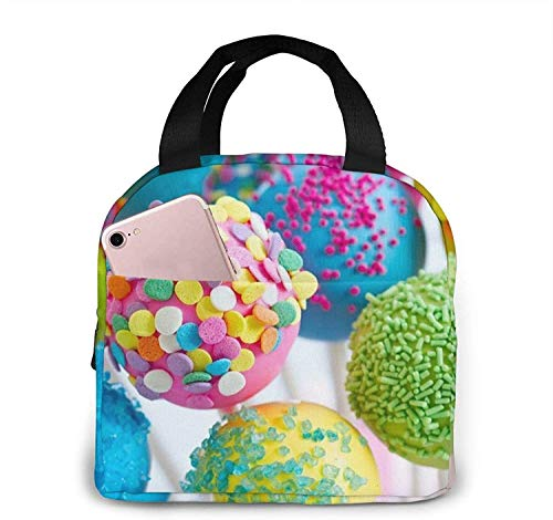 Colorful Candy Lunch Bag Tote Bag Lunch Box Insulated Lunch Container for Woman Man