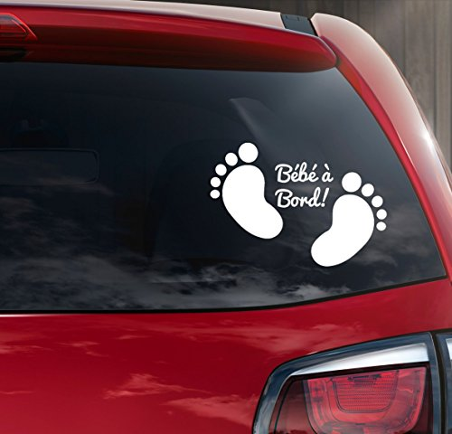 Sticker bébé à bord petit pied bébé ref 5