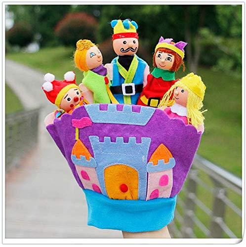 N/O Guantes De Madera Marioneta para Niños Juguetes De Dibujos Animados Marioneta De Dedo De Felpa Bosque Marioneta De Animales Juguete De Dedo Educativo para Bebés