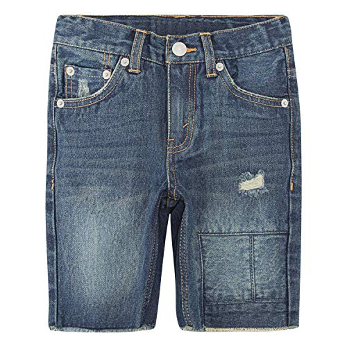 Levi's Boys' Big 511 Slim Fit Denim Shorts, Blue Asphalt, 12