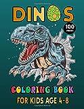 Dinos Coloring Book For Kids Age 4-8: Fantastic Dinosaur Coloring Book for Boys, Girls, Toddlers, Preschoolers, Kids 4-8. Realistic Dinosaur Designs ... Spinosaurus, Allosaurus, Diplodocus