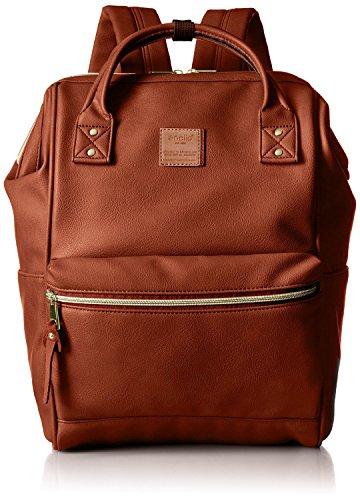 Anello AT-B1211 Rucksack aus Kunstleder, groß, Braun