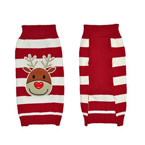 LucyGod Hond Jumpers Kerst Truien Outfits Kostuums Hoodies Winter Kerstmis Huisdier Kleding Shirts Jassen Jassen, S, Red-Reindeer