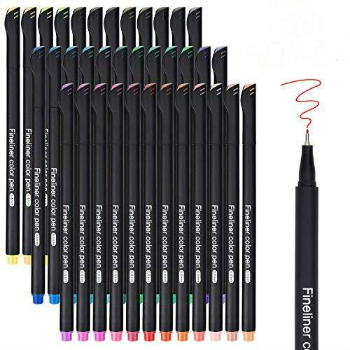 Premium Fineliner Stifte Set, DealKits 36 Farben Bullet Journal Stifte Set- Feine Filzstifte 0,4mm Ideal für Kalligraphie Schreiben Zeichnen Einkaufslisten Notizen und Termine