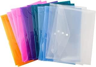 24 Multicolor Poly Envelopes, Plastic Envelopes, Transparent Envelopes Designed for School,Home, Work, and Office Organization (24 Pack)