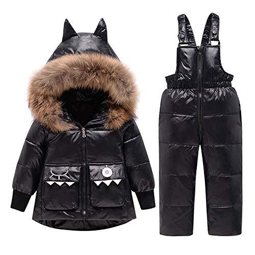 Schneeanzug Winter Boy Daunenjacke Echtpelz Baby Boy Schneeanzug 1-4 Jahre Kids Girl Outfits