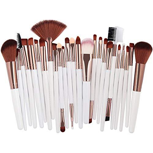 HANHOU Fond De Teint Cosmétique Synthétique Premium Blushing Blush Correcteurs Poudre Kabuki 25 Pcs Kit De Brosse De Maquillage Professionnel,7-OneSize