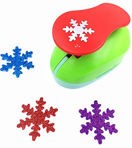 TECH-P Creative Life 2-Inch Snowflake Paper Craft Punch,Card Scrapbooking Engraving Kid Cut DIY Handmade Hole Puncher Tool for Christmas Party Decorations-Snowflake