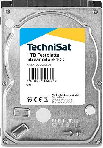 TechniSat Streamstore 100 2,5 Zoll SATA III Festplatte mit 1 TB Speicherkapazität (passend zu TechniCorder ISIO STC, TechniCorder ISIO SC, Sonata 1)