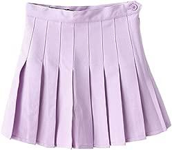 Minuoyi Sports High Waist with Underpants Tennis School Cheerleader Pleated Skirt
