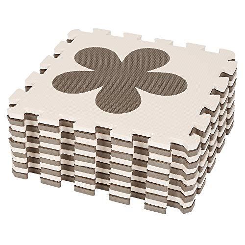 Puzzle Tapis Mousse Bébé, 12 Pièces, Tapis de Jeu pour Les E