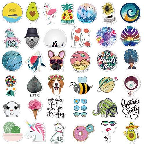 Niedliche Aufkleber (105 Stück), Laptop und Wasserflasche, Aufkleber für Teenager, Mädchen, Frauen, Vinyl-Aufkleber