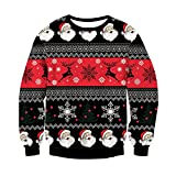 Maglione pullover da uomo Chiristmas Design funky Maglie a maniche lunghe lavorate a maglia per i regali di Capodanno