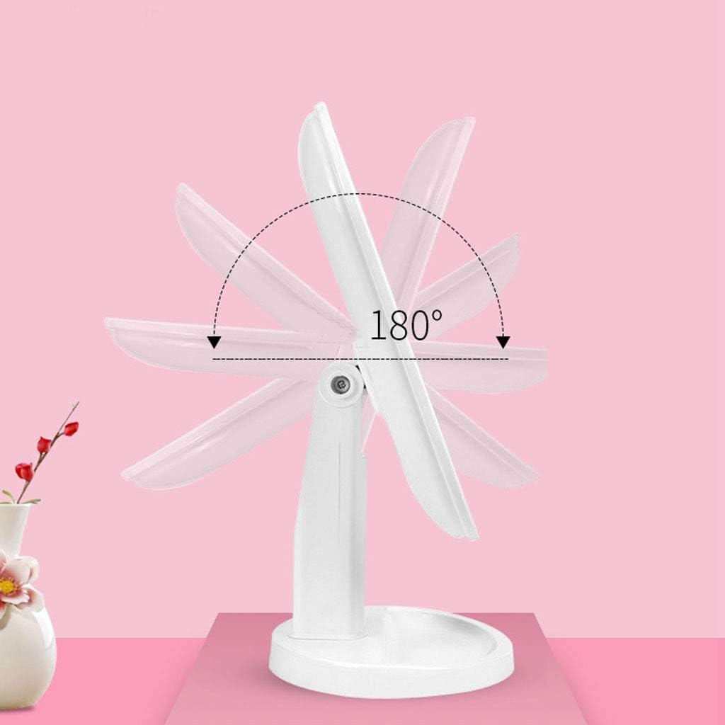 Miroir de Maquillage,Miroir Cosm/étique,Miroir de Table, Miroir de Maquillage Lumineux grossissant 10x ,Rotation /à 180 /°, LED Batterie Rechargeable,Rotation R/églable