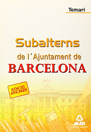Temari - Subalterns De L'ajuntament De Barcelona (Cataluña (mad))