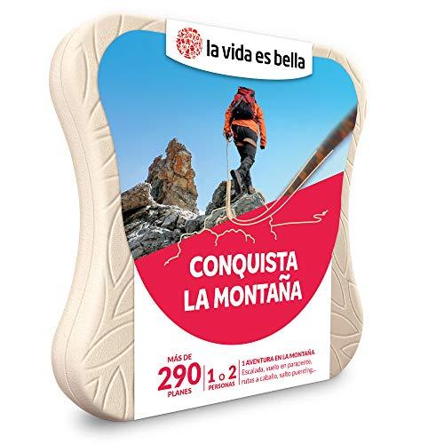 LA VIDA ES BELLA - Caja Regalo para Hombres - Conquista la montaña - Caja Regalo para Hombres - 1 Experiencia de Aventura para 1 o 2 Personas