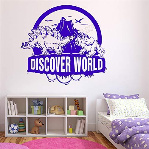 zqyjhkou Wanddekoration Fantasie Zimmer Aufkleber Vinyl Abnehmbare Poster Entdecken Adventure World Wandbild Moderne Kidsroom Aufkleber 58x63 cm