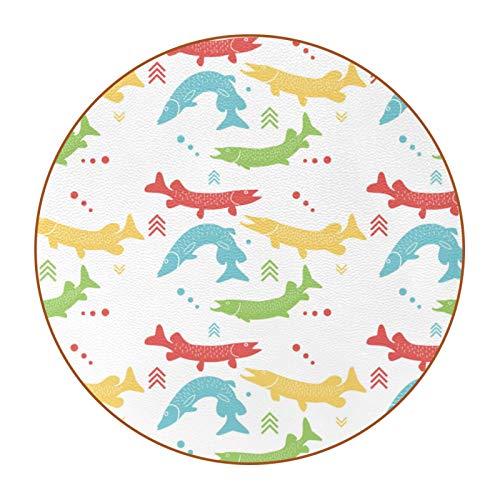 6 posavasos de taza con imagen y texto personalizables para inauguración de la casa, regalos de anfitriona, decoración de boda, decoración de habitación, bonitos peces de Walleye
