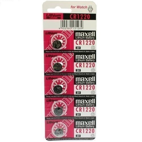 Pila maxell de Boton de Litio CR1220 3V Pack 5 Pilas