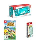 Nintendo Switch Lite, Standard, Türkis-blau + Animal Crossing: New Horizons + Nintendo Switch Lite Schutzhülle - Animal Crossing: New Horizon-Edition