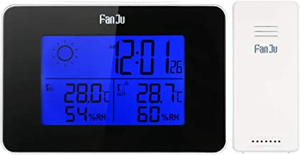 Battery Operated Wireless Digital Backlight LCD Weather Station Alarm Clock Indoor/Outdoor Thermometer Hygrometer Clock wi...