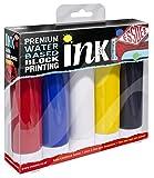 ESSDEE Tinta de impresión en Bloque, (Paquete de 5 Colores)